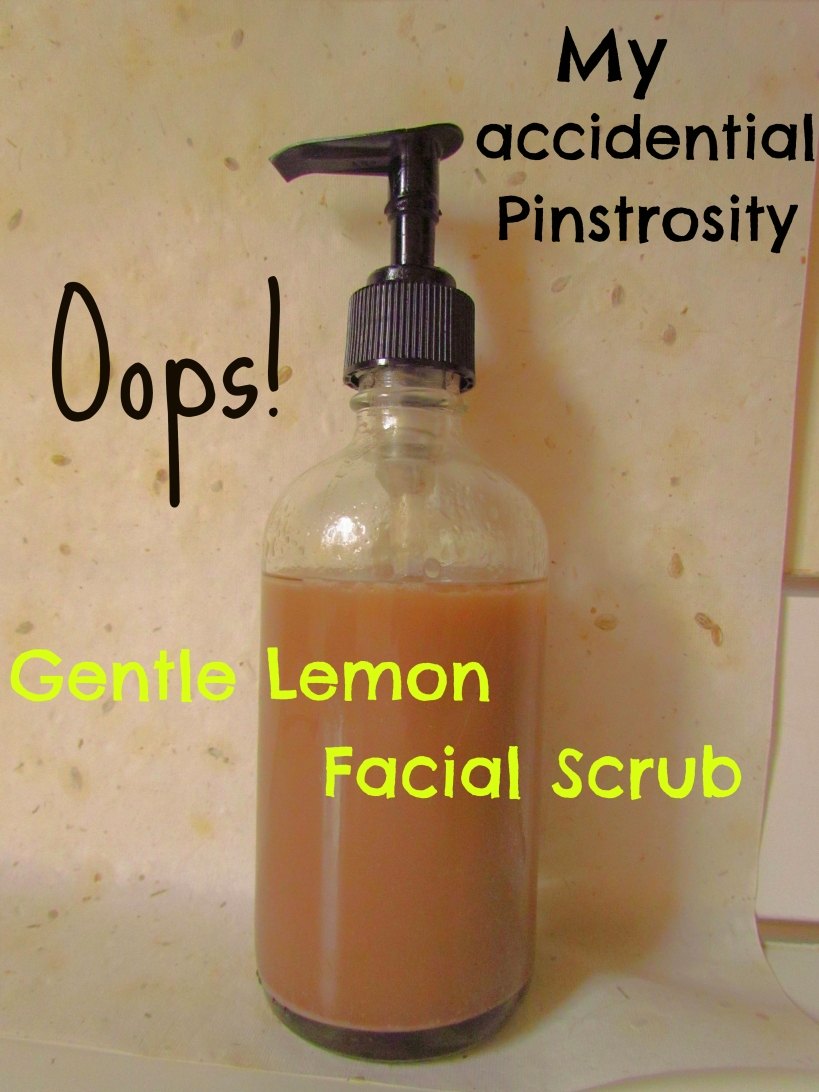 Oops Pinstrosity Gentle Lemon Facial Scrub