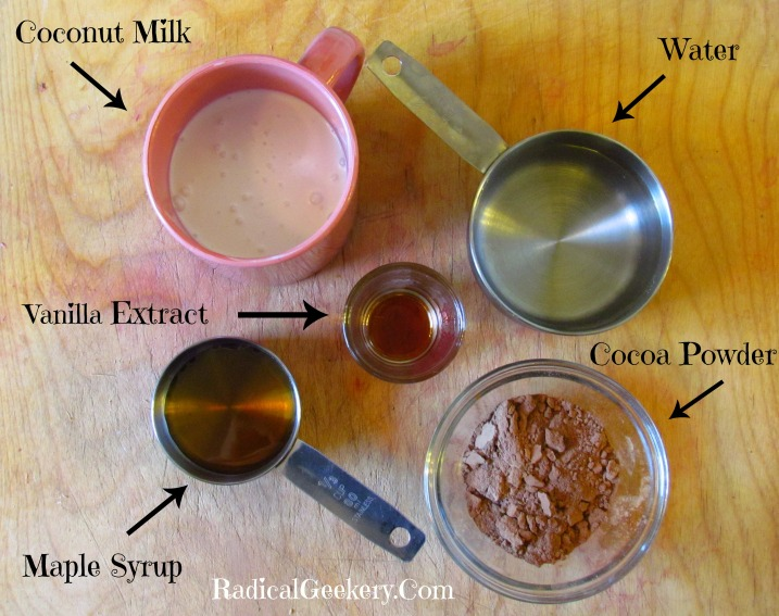 Ingredients for Hot 'Cocoa'nut Milk from RadicalGeekery.jpg