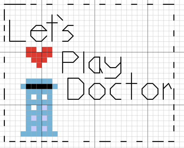 Let's Play Doctor Who Cross Stitch Pattern by Radical Geekery